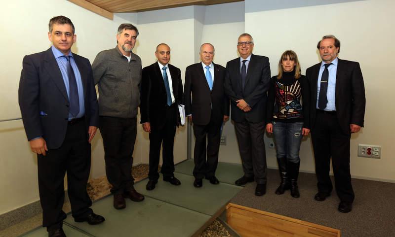 Ignacio Campoy y Gerardo Echeita, a la izquierda, con Javier Amoedo, en el centro