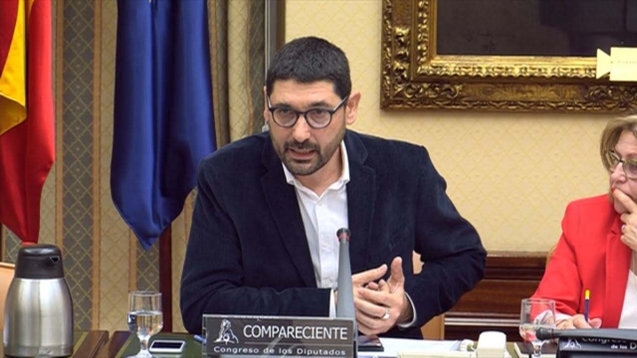 Ignacio Calderon Almendros durante la comparecencia en la comisión