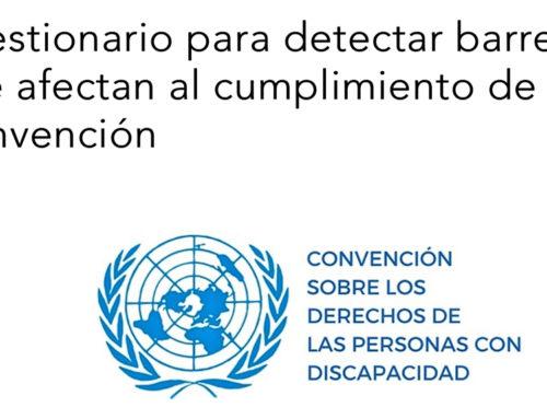 Cuestionario para detectar barreras que afectan al cumplimiento de la Convención