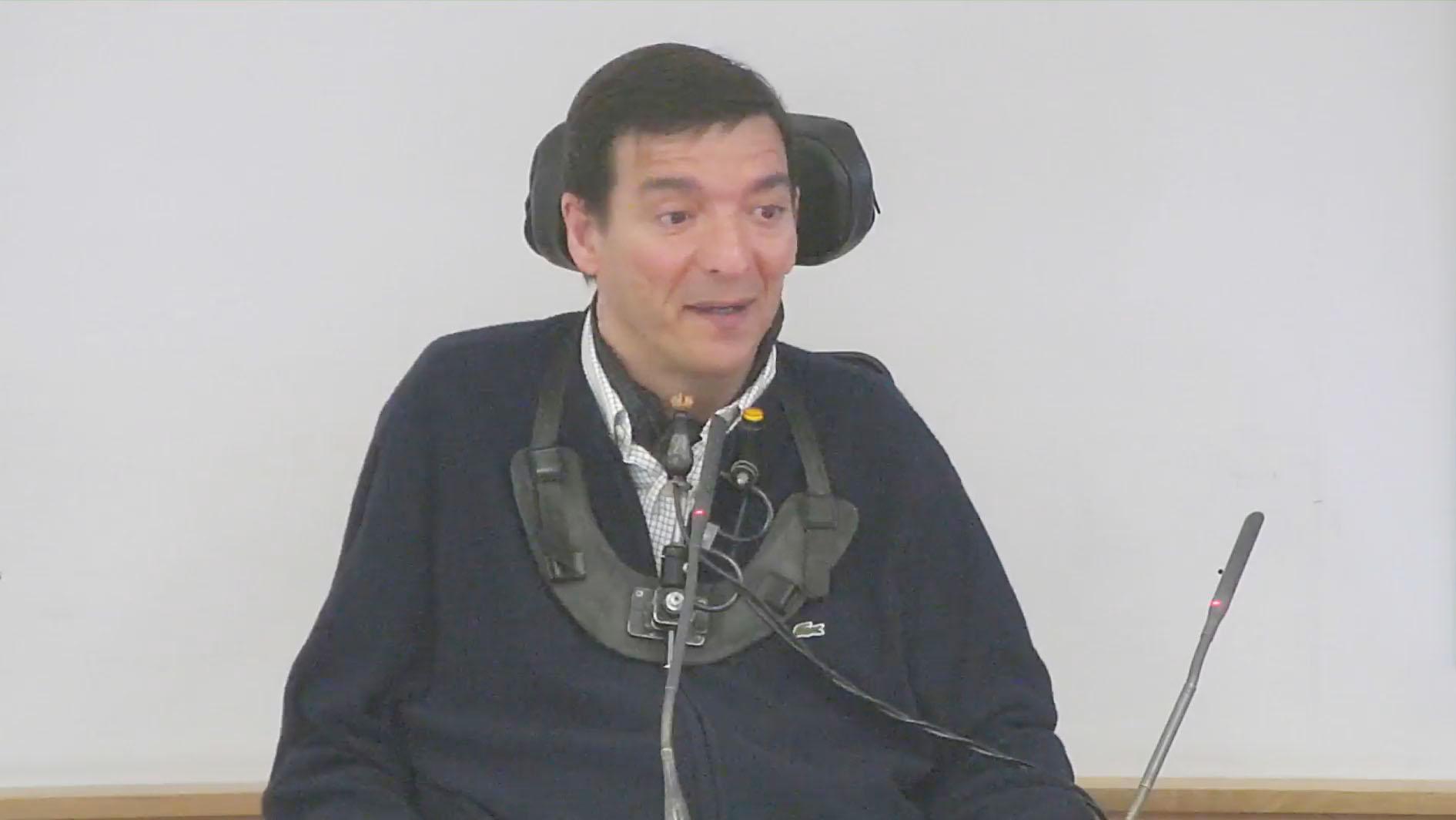 Alejandro Rodríguez-Picavea durante su intervención en la jornada